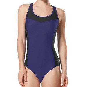 Speedo Colorblock one piece Swimsuit womens XXL